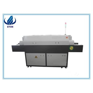 LED Reflow sesitovu, 5 Ubushushu Zone ngelotha Machine Ngokuba Assembly LED Line