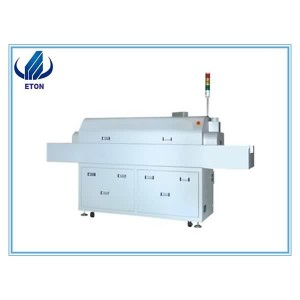 Automatic 6 Zones Lead Free Solder SMT Reflow Oven For LED Tube Bulb Strip Downlight Panel Light Assembly Machine