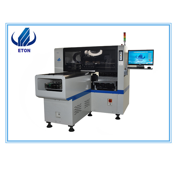 Wholesale Wave Soldering Machine For Cellphone - Small Manufacturer Smt Pcb Mounting Machine E6T With 20 Feeder 8 Head Smt Pick And Place Machine – Eton