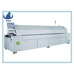 Reflow Lehim Oven Machine Infrared Reflow Lehim Soba / Reflow Lehim Soba SMT Hot Air konveksiya 8 Heating Zone