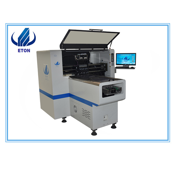 OEM manufacturer Smd Components Led Mounting Machine - Small Manufacturer Smt Pcb Mounting Machine E6T With 20 Feeder 8 Head Smt Pick And Place Machine – Eton
